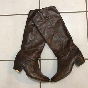 Frye womens western tall boots Brown Sz 10 Leather